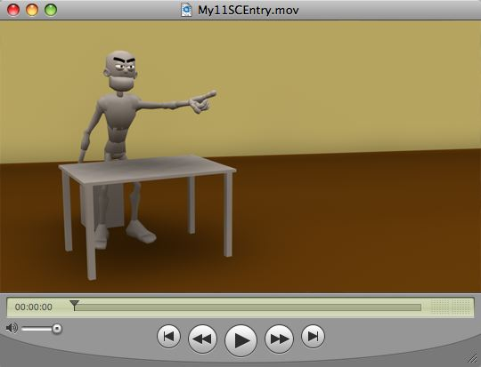Screenshot of widescreen animation