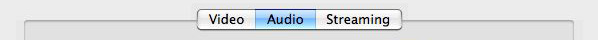 Screenshot of QuickTime MPEG-4 Audio Tab